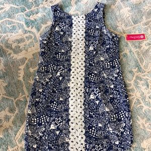 New Lilly Pulitzer by Target Navy Fish Dress 16